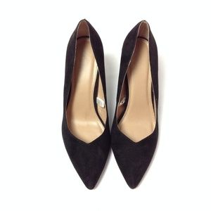 And.ea.wy Women's Suede Pumps Black Size 9.5 EP